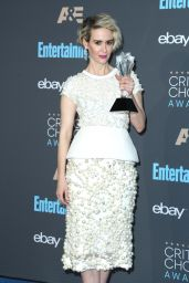 Sarah Paulson – 2016 Critics' Choice Awards in Santa Monica 12/11/ 2016