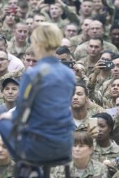 Scarlett Johansson - USO Visit at Forward Operating Base Gamberi in Afghanistan 12/7/ 2016