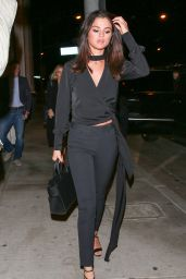 Selena Gomez Night Out Style - at Catch in West Hollywood 12/3/ 2016