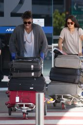 Shanina Shaik and Her Fiance DJ Ruckus Arrive into Melbourne Airport 12/21/ 2016