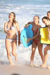 Suki Waterhouse - Enjoys a Day at the Beach - Barbados 12/26/ 2016