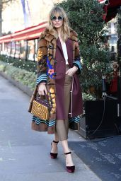 Sveva Alviti Street Fashion - Out in Paris, November 2016