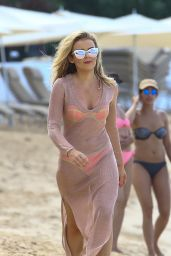 Tallia Storm in Pink Bikini - Beach in Barbados, December 2016