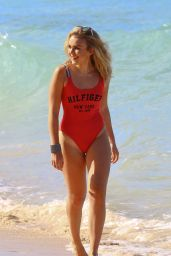 Tallia Storm in Swimsuit - Beach in Barbados 12/29/ 2016