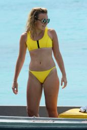 Tallia Storm in Yellow Bikini on the Beach in Barbados 12/26/ 2016