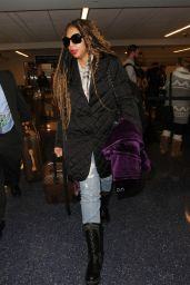 Towanda Braxton Arrives at LAX Airport in Los Angeles 12/20/ 2016