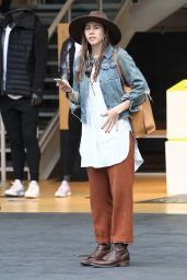 Troian Bellisario Street Style - Christmas Shopping at the Grove in Los Angeles 12/12/ 2016