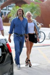 Vitalina Sidorkina With Her Boyfriend at Design Miami in Miami Beach 12/1/ 2016