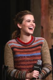 Zoey Deutch at AOL Build in NYC 12/12/ 2016