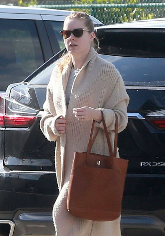 Amy Adams stops by an office building in Beverly Hills on January 24, 2017