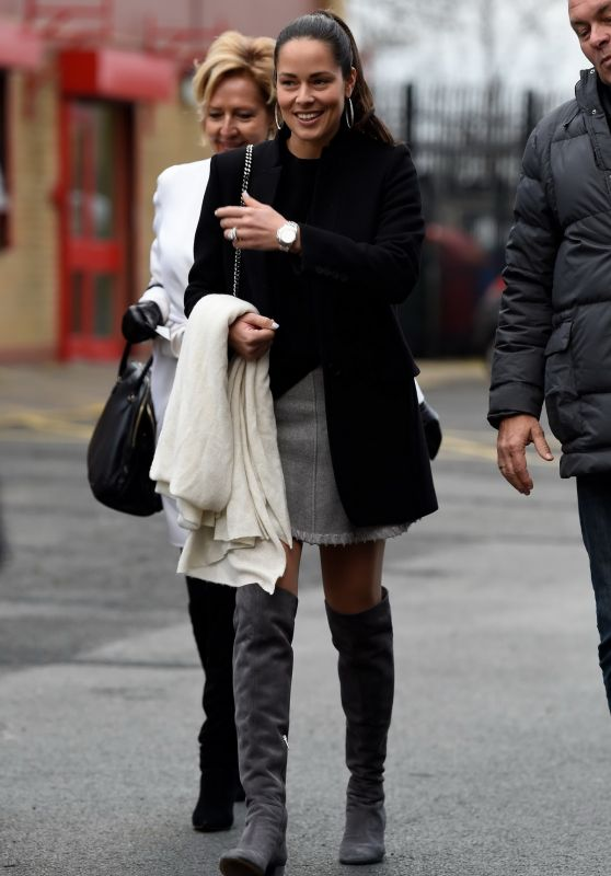 Ana Ivanovic - Arriving at Old Trafford in Manchester 12/31/ 2016