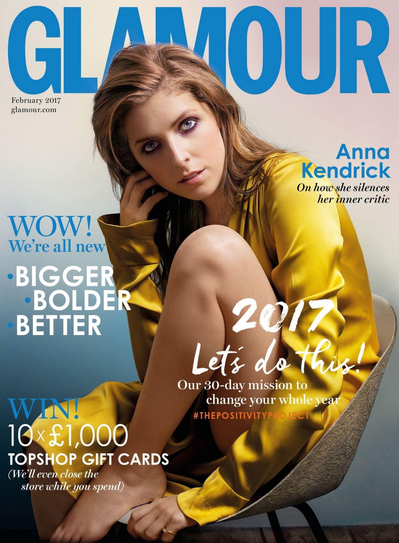 Anna Kendrick - Glamour Magazine UK February 2017 Issue