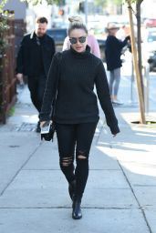 Ashley Benson - Looks Sharp in Black Jeans And Sweater, Los Angeles 1/26/ 2017