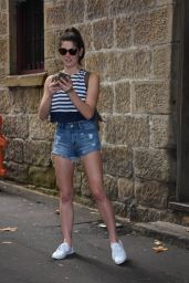 Ashley Greene Leggy in Shorts - Sydney 12/30/ 2016