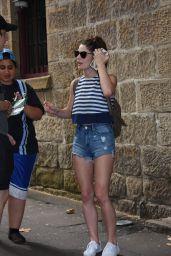 Ashley Greene Leggy in Shorts - Sydney 12/30/ 2016