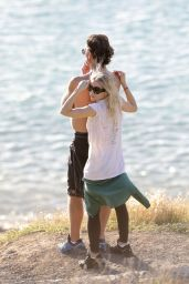 Ashley Olsen at the Beach in St Barth 1/1/ 2017