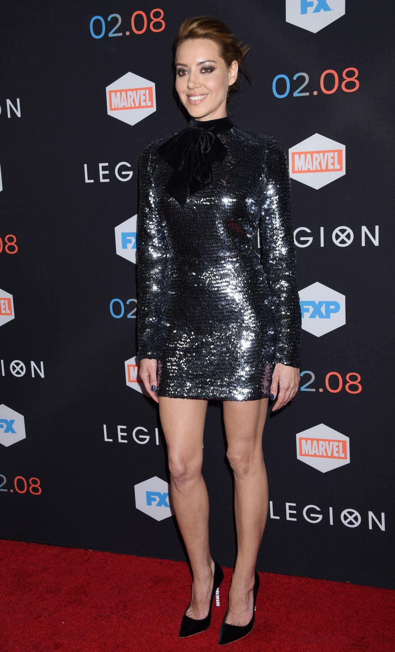 Aubrey Plaza Legion Tv Series Premiere In Los Angeles