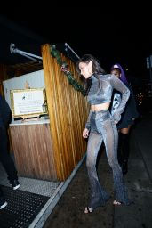 Bella Hadid Attends New Year Eve Party at The Nice Guy Restaurant in Los Angeles 1/1/ 2017