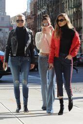 Bella Hadid, Gigi Hadid and Yolanda Hadid - Out in Manhattan 1/29/ 2017