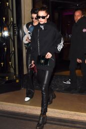 Bella Hadid - Leaving her hotel in Paris, France 01/24/ 2017