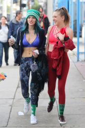Bella Thorne in Spandex - Out in Los Angeles 1/5/ 2017