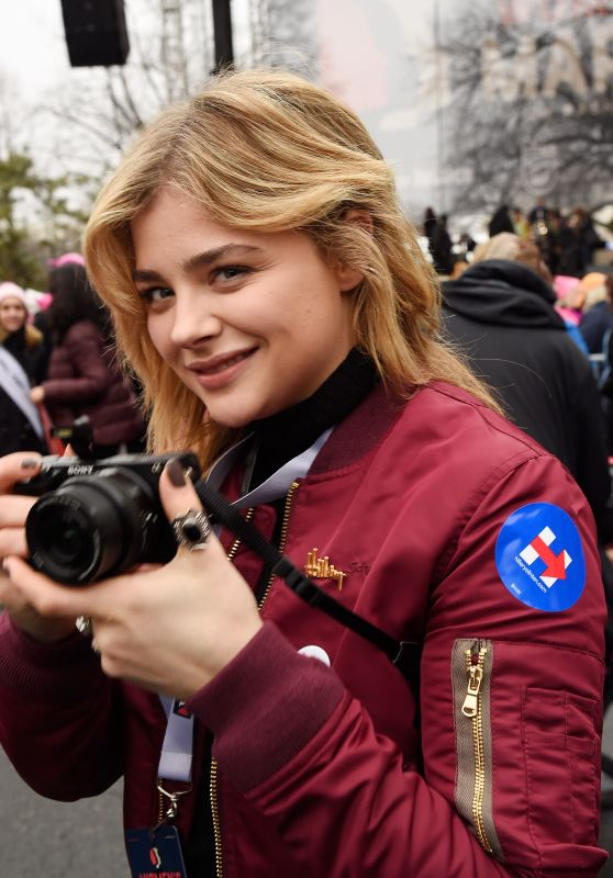 Chloe Moretz - Women's March in Washington DC 1/21/ 2017