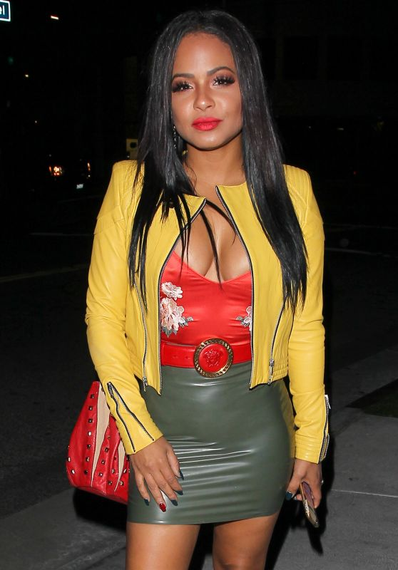 Christina Milian at Bootsy Bellows in West Hollywood 1/14/ 2017