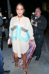 Christina Milian - Sporting a Colorful Look While Arriving to Catch LA in West Hollywood 1/26/ 2017