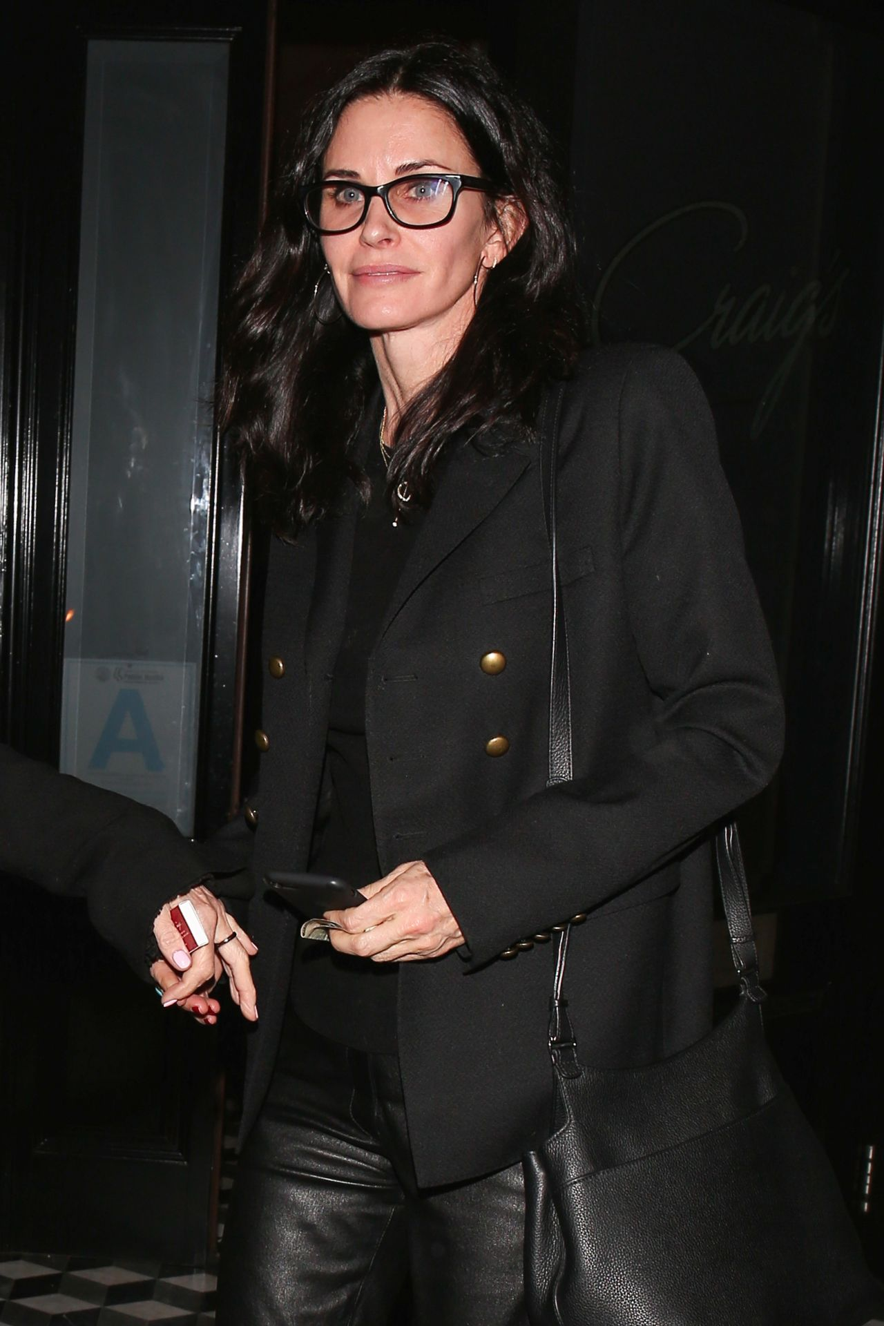 Courteney Cox at Craigs Restaurant in West Hollywood 1/12 ...