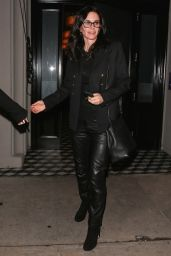Courteney Cox at Craigs Restaurant in West Hollywood 1/12/ 2017