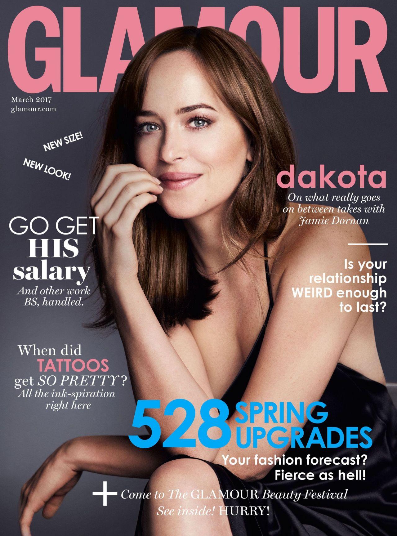Dakota Johnson - Glamour Magazine UK March 2017 Cover and