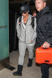 Demi Lovato Travel Outfit - LAX Airport in Los Angeles, CA 1/15/ 2017