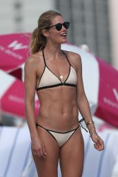 Doutzen Kroes Hot in Bikini at the Beach in Miami, FL 12/31/ 2016