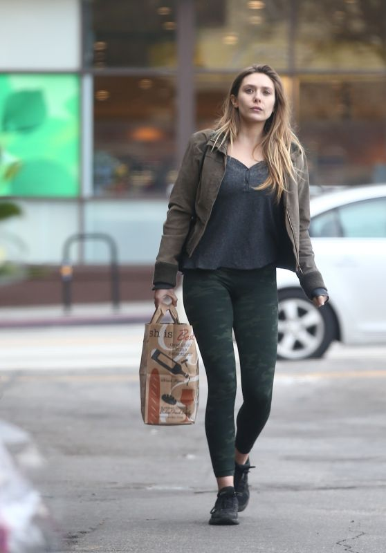 Elizabeth Olsen in Tights - Out in LA 1/15/ 2017