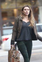 Elizabeth Olsen in Tights - Out in LA 1/15/ 2017