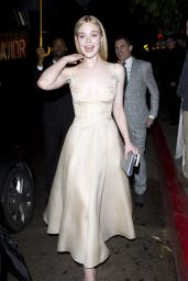Elle Fanning at Chateau Marmont For Golden Globes Party in LA 1/8/ 2017