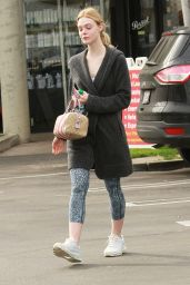 Elle Fanning - Leaving Her Workout in Los Angeles 1/18/ 2017