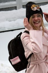 Elle Fanning Winter Outfit - Out in Park City, Utah 1/22/ 2017