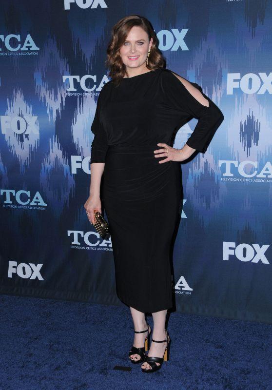 Emily Deschanel – FOX Winter TCA All Star Party in Pasadena, CA 01/11/ 2017