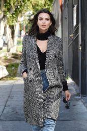 Emily Ratajkowski Looks Stunning in a Gray Coat - Los Angeles, CA 1/24/ 2017