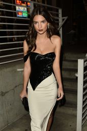 Emily Ratajkowski - Steps Out For Evening in a Shoulder Less Sequin Dress - West Hollywood 1/27/ 2017