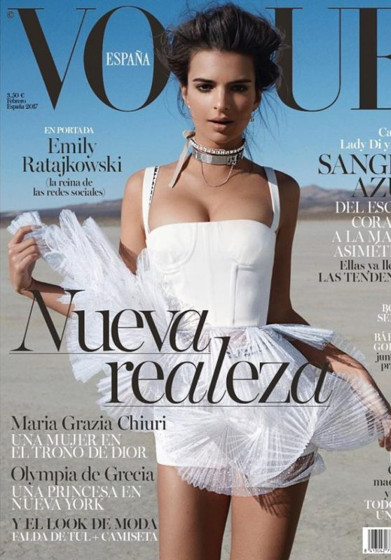 Emily Ratajkowski - Vogue Spain February 2017 Cover and Photo