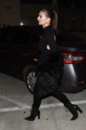Emily Ratajkowski Wears Black-on-Black to Catch LA in West Hollywood 1/27/ 2017