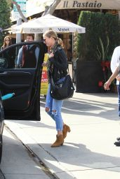 Emily VanCamp Has Lunch at Il Pastaio in Beverly Hills 1/11/ 2017