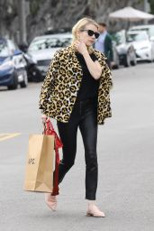 Emma Roberts  is Looking All Stylish - Shopping at A.P.C Store in Los Angeles 1/4/ 2017