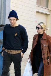 Emma Roberts - Lunch With Evan Peters at Porto Villa in Beverly Hills 1/24/ 2017