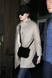 Emma Stone - Arrives at Roissy Airport in France 1/10/ 2017