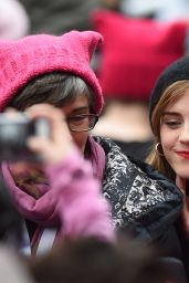Emma Watson – Women's March in Washington DC 1/21/ 2017