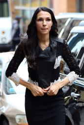 Famke Janssen Showed Off Her Thin Figure in a Tight Black Dress - NYC 1/12/ 2017