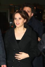 Felicity Jones - Arriving For a Post SNL Show Celebration in NY 1/14/ 2017